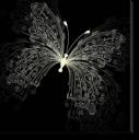 Tablou Canvas Fluture Minimalist