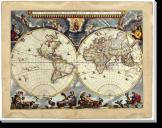 Tablou Canvas Harta veche-1664