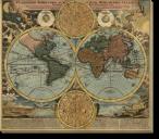 Tablou Canvas Harta Antica a Lumii