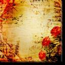 Tablou Canvas Trandafiri si Cuvinte