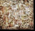 Tablou Canvas Colaj de Litere