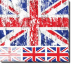 Tablou Canvas UK Grunge Flag