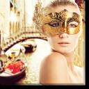 Tablou Canvas Femeie cu Masca in Venetia