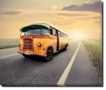 Tablou Canvas Vintage Bus