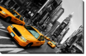 Tablou Canvas Yellow Cabs in NY
