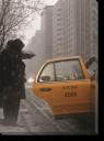 Tablou Canvas Iarna pe Strazile din NY