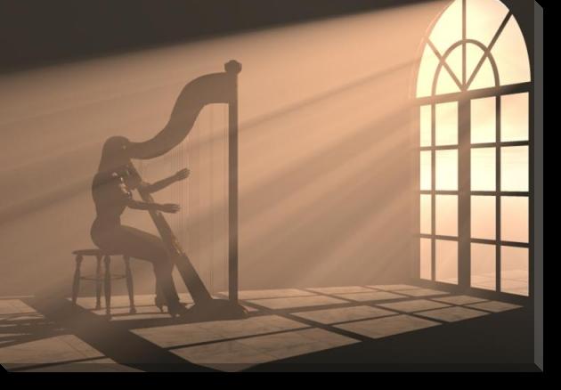 Tablou Canvas Cantand la Harpa