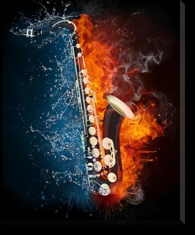 Tablou Canvas Saxofon