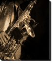 Tablou Canvas Saxofonist