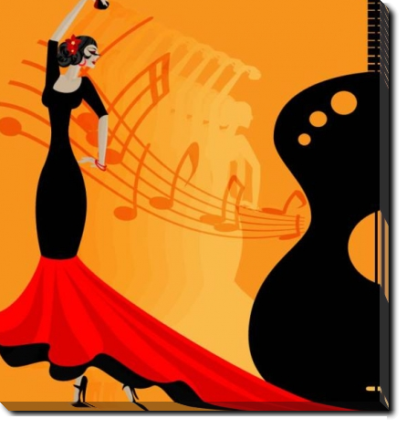 Tablou Canvas Flamenco