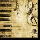 Tablou Canvas Fundal Muzical