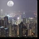 Tablou Canvas Hong Kong Noaptea