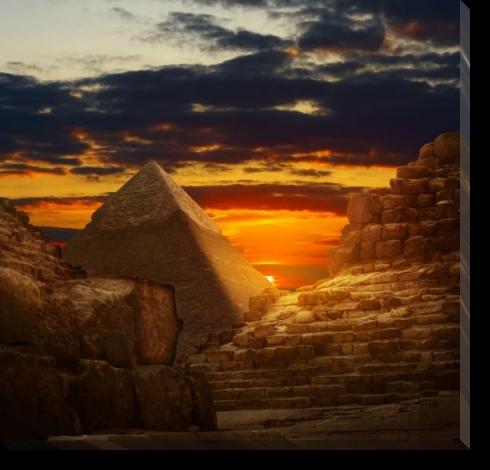 Tablou Canvas Piramide-Apus