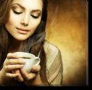 Tablou Canvas Femeia cu Cafeaua