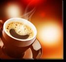 Tablou Canvas Ceasca Rosie de Cafea